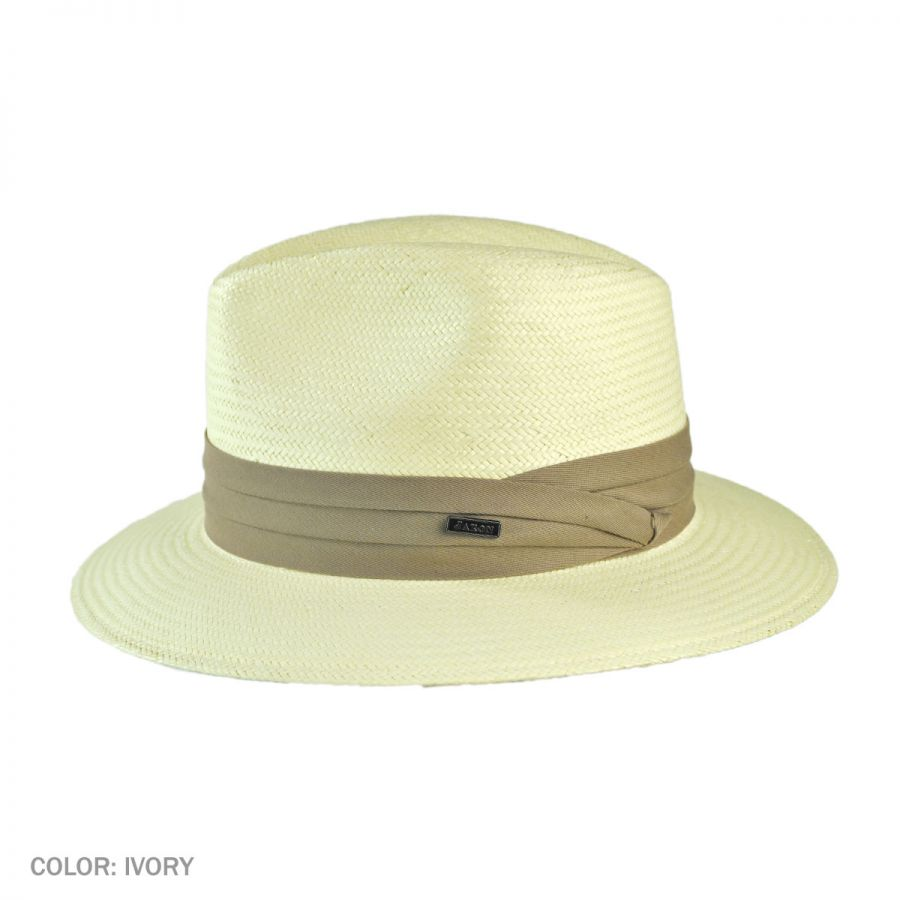 Khaki Band Jaxon Toyo Safari Fedora Hat