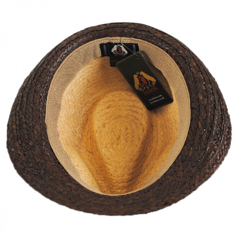 4851bcf2c00 Jaxon Hats Trinidad Raffia Straw Trilby Fedora Hat Stingy Brim   Trilby
