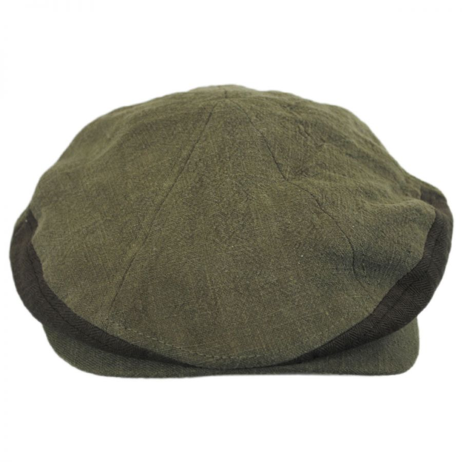 EK Collection by New Era Tonal Linen Driver Newsboy Cap Newsboy Caps 2f23e484704