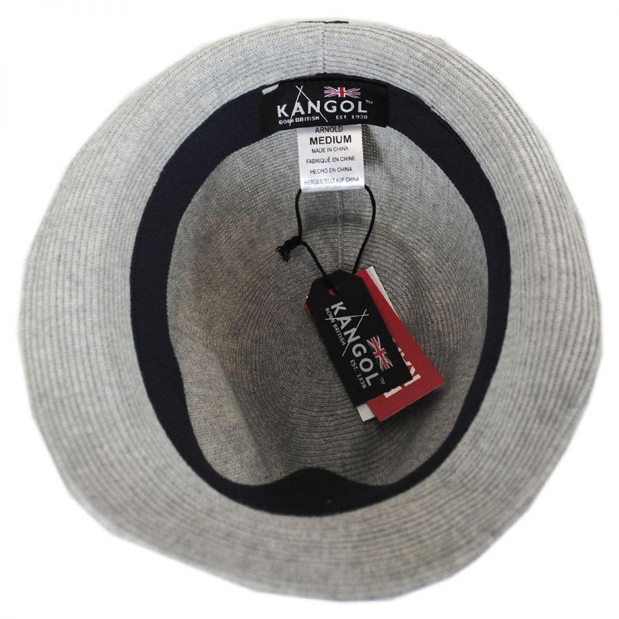 Kangol Rib Knit Cotton Blend Arnold Trilby Fedora Hat Stingy Brim ... d378e1c08c6f