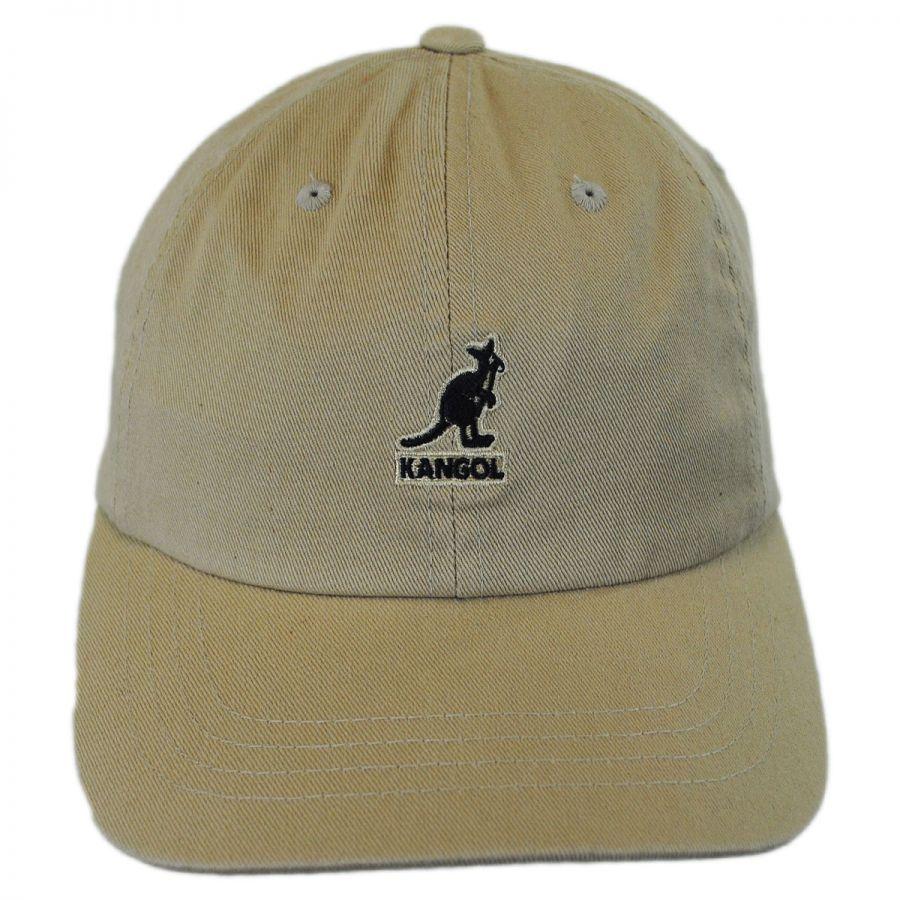 9c49574840e139 Kangol Washed Cotton Strapback Baseball Cap Dad Hat All Baseball Caps