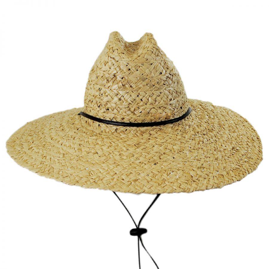 4c5cc5b6d2b Dorfman Pacific Company Organic Raffia Straw Lifeguard Hat Sun ...