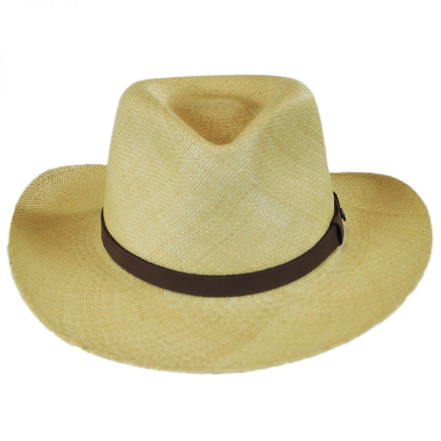 95bb8e7f797 Tommy Bahama Leather Band Panama Straw Outback Hat Hats