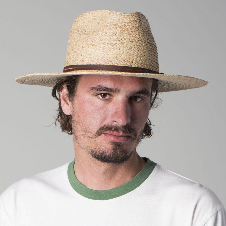 Brixton Hats Simpson Raffia Straw Fedora Hat Straw Fedoras bf65f0e696e