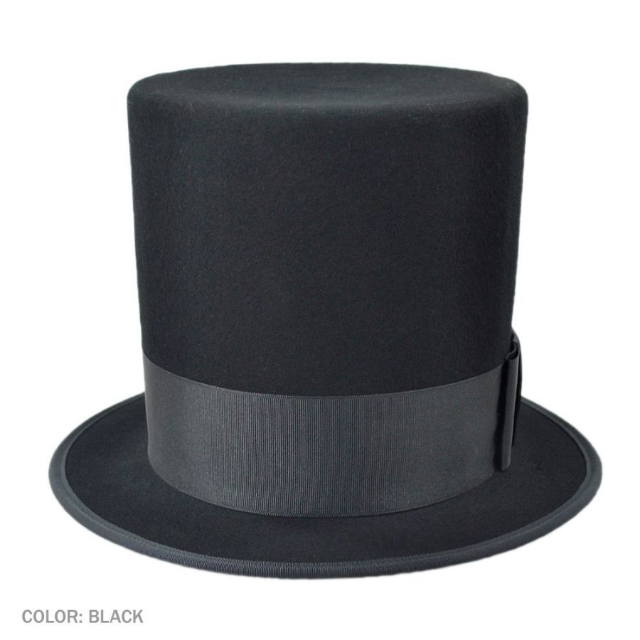 Hatcrafters Abraham Lincoln Wool Felt Top Hat - Made to Order Top Hats 93a43d4669d