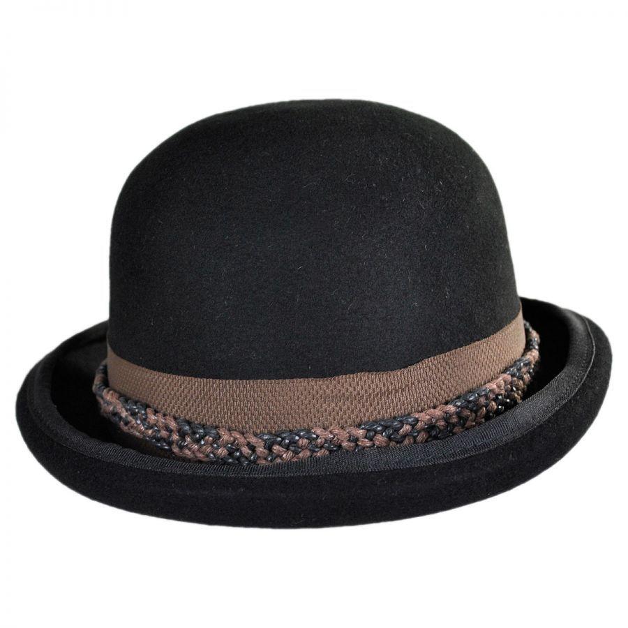 b7c61d7975683 Conner Steampunk Wool Felt Bowler Hat Derby   Bowler Hats