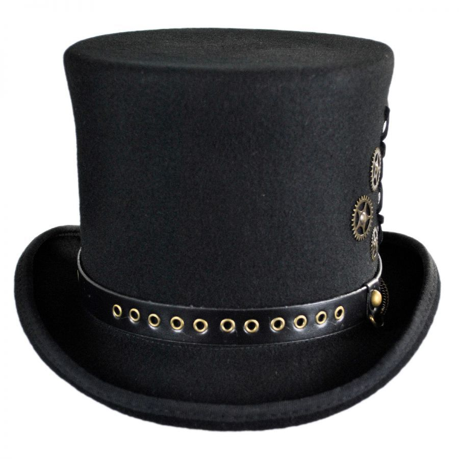 866f74e875ab8 Conner Steampunk Wool Felt Top Hat Top Hats