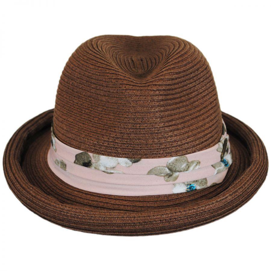 Hatch Hats Roll Up Brim Straw Fedora Hat Fedoras 35f536a26c3