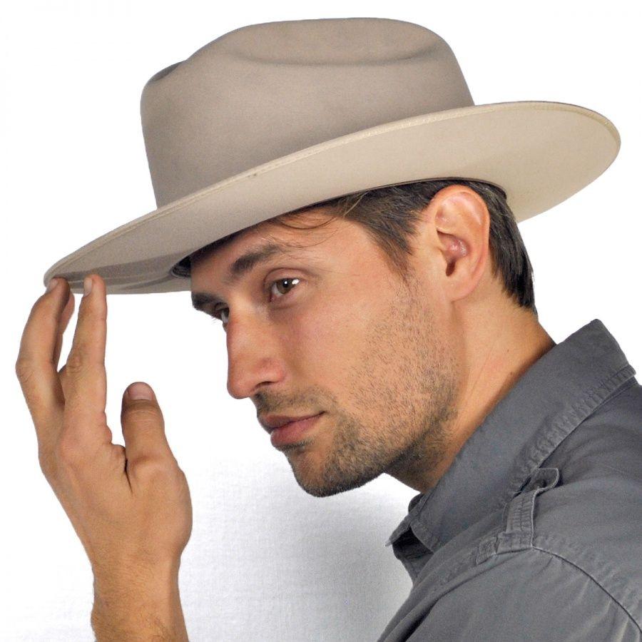 Sfoprd-052661 Silver Belly Stetson Men/'s 6X Open Road Fur Felt Cowboy Hat