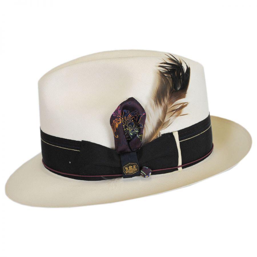 7ebc52c9a44 Biltmore 1917 Extra Fine Shantung Straw Fedora Hat Straw Fedoras
