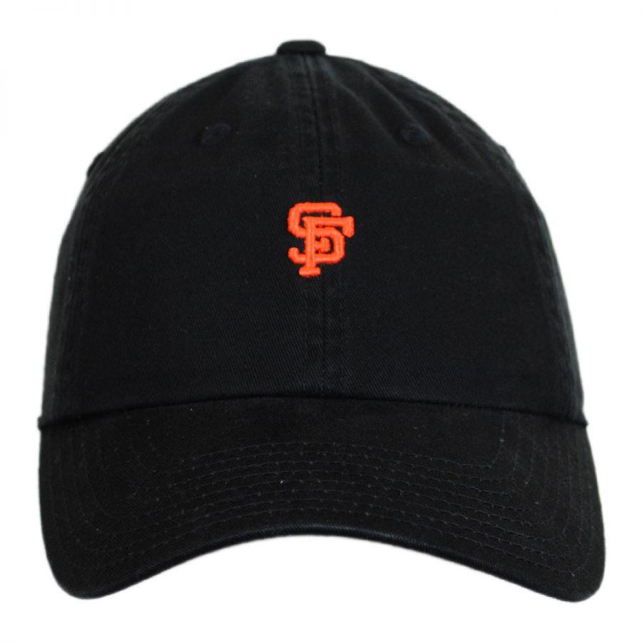 american needle san francisco giants mlb micro logo strapback baseball cap dad hat mlb baseball caps