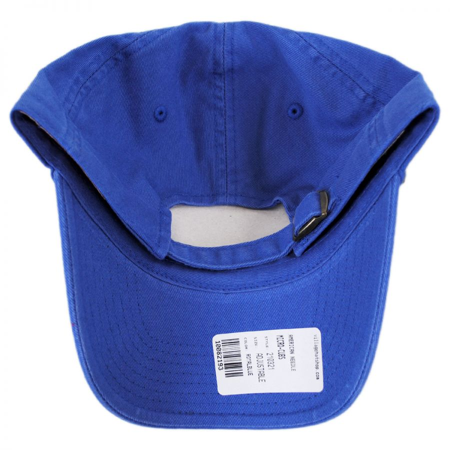 Chicago Cubs MLB Micro Logo Strapback Baseball Cap Dad Hat in. American  Needle 9f48c20fa64
