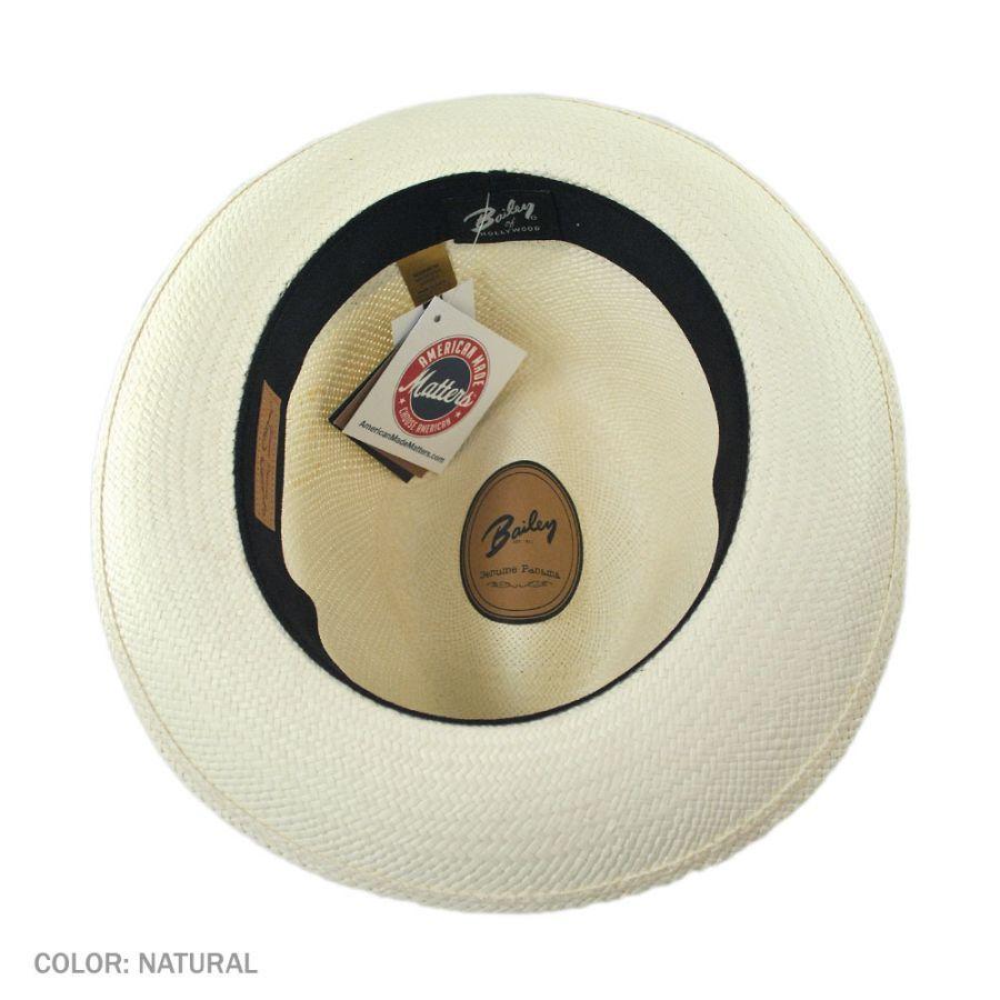 ba9fb8d89 Thurman Panama Straw Fedora Hat