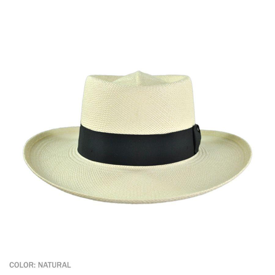 Gambler Straw Hat: Pantropic Trinidad Panama Straw Gambler Hat Panama Hats