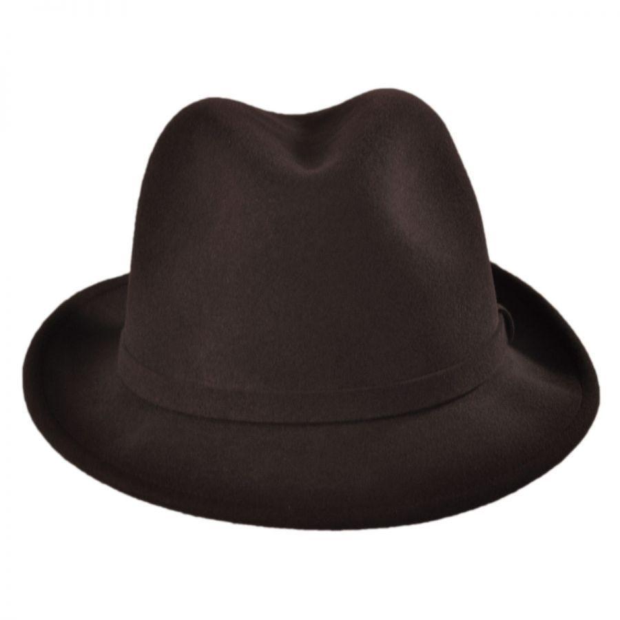8762d90480c0a Pantropic Charlie Wool LiteFelt Fedora Hat Crushable