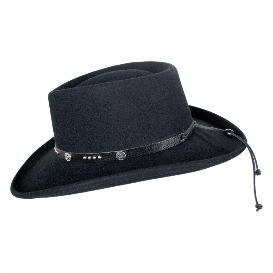 6c83ddbda95c3 Renegade Joker LiteFelt Wool Gambler Western Hat Western Hats