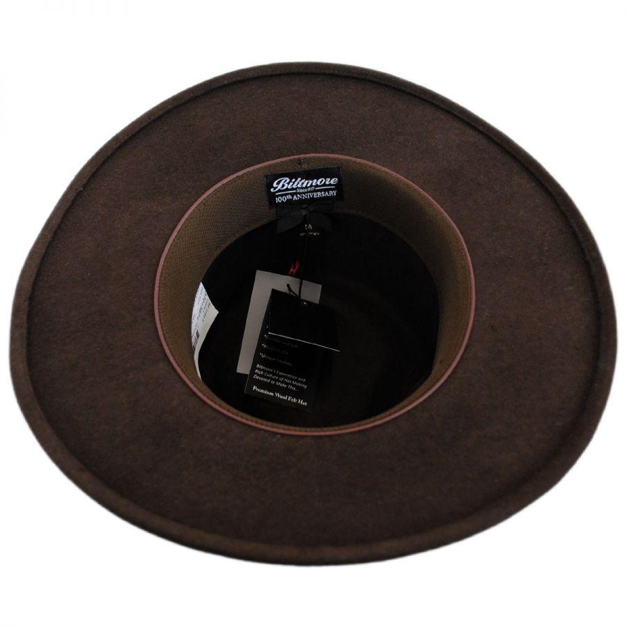 c6c6ee05871d4 Biltmore Pathfinder Crushable Wool Felt Outback Hat All Fedoras