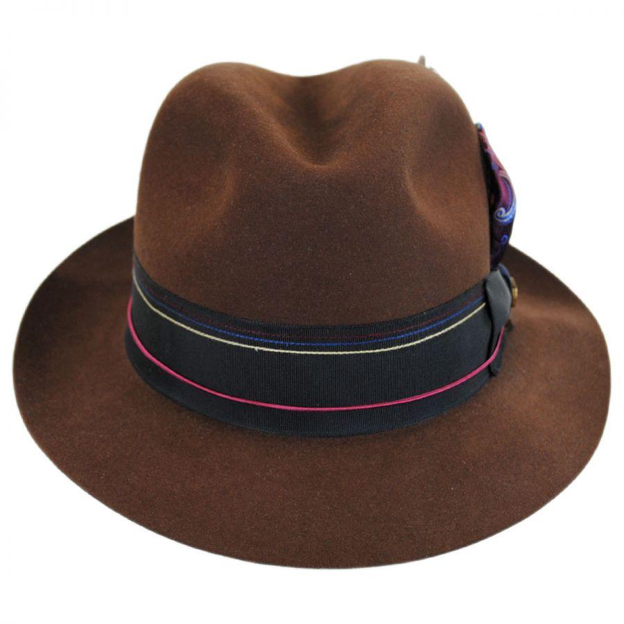 Biltmore 1917 Beaver Fur Felt Trilby Fedora Hat Fur Felt f6fb275452fe