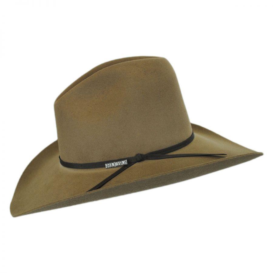 5fe3a543cffd2 Resistol John Wayne Peacemaker Wool Felt Western Hat Western Hats
