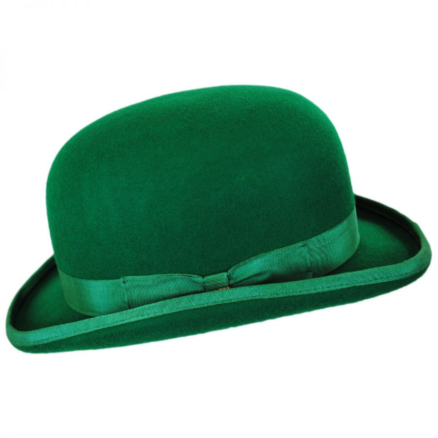6d14ed7c Scala Low Crown Wool Felt Bowler Hat Derby & Bowler Hats