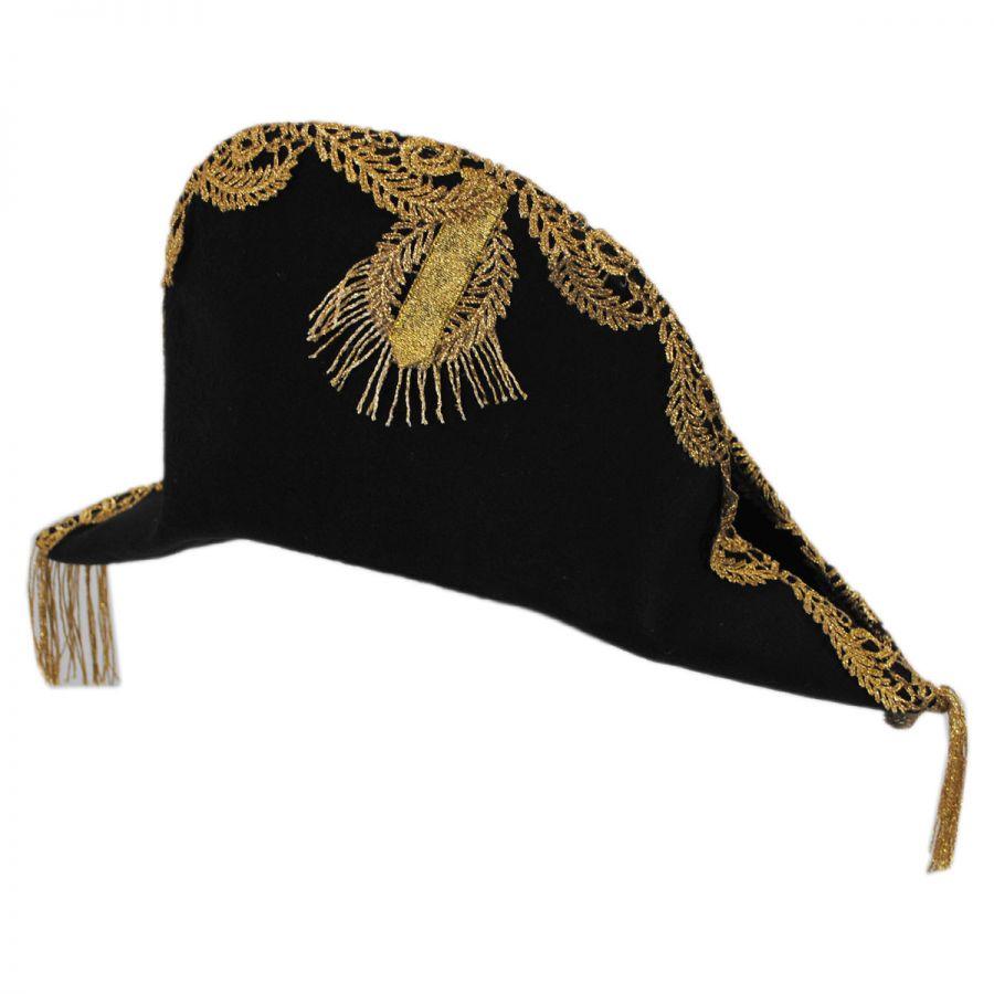 66083b82eb865 Disney Pirates of the Caribbean Barbossa Bicorn Hat All