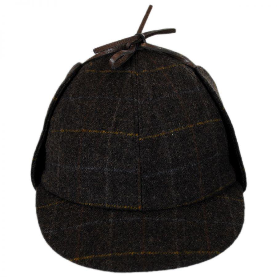 City Sport Caps Windowpane Plaid Wool Sherlock Holmes Hat All ccba3af24