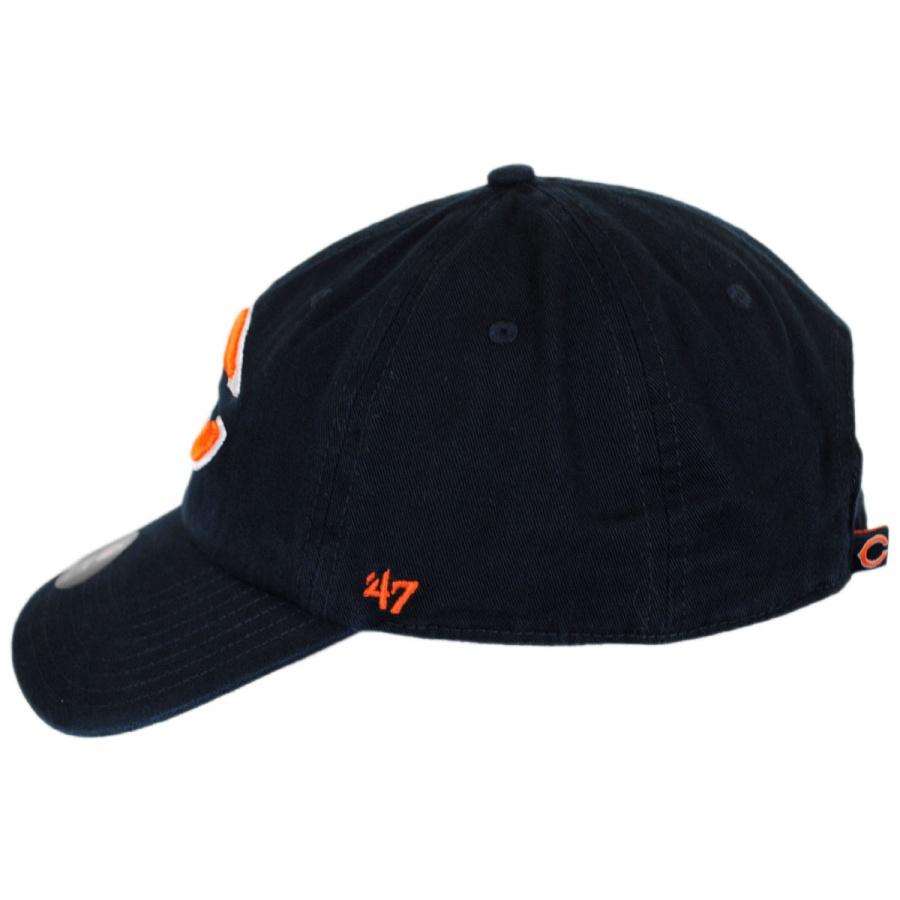 c834d608 Chicago Bears NFL Clean Up Strapback Baseball Cap Dad Hat