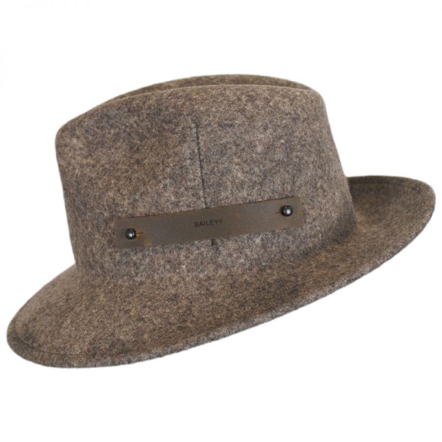 Bailey Boley Wool LiteFelt Fedora Hat Crushable 390c0fe8679