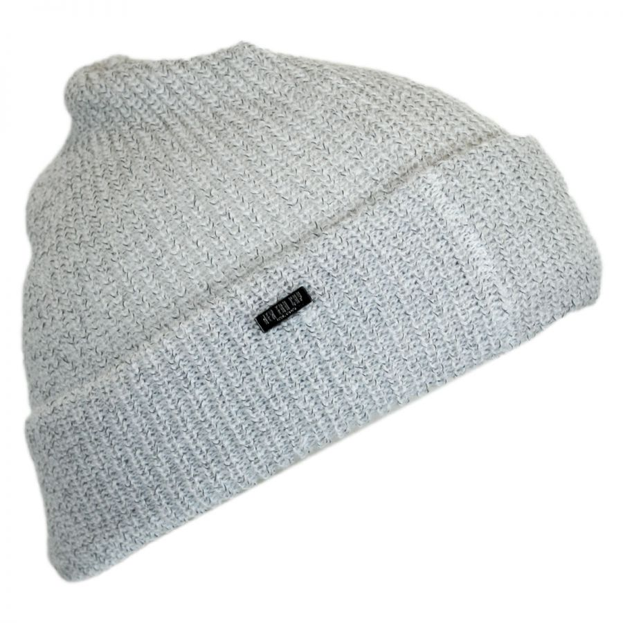 656e0519 NAVY WHITE; 518243332b8e7 EK Collection by New Era Reflective Knit Beanie  Hat Beanies