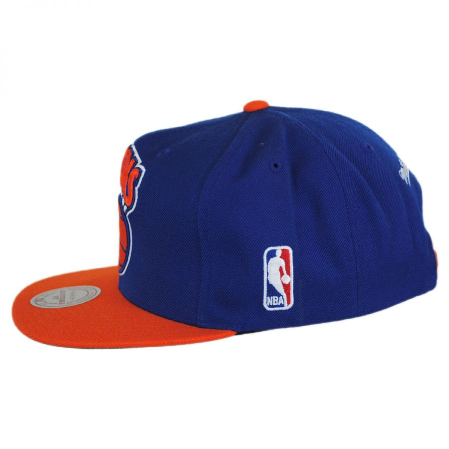 new styles 28261 20502 New York Knicks NBA XL Logo Snapback Baseball Cap in