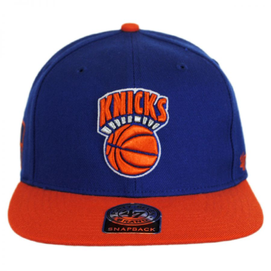 brand new 442d4 67c97 New York Knicks NBA Sure Shot Snapback Baseball Cap in