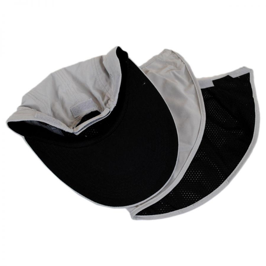 3dfc62ec25f09 Dorfman Pacific Company Microfibre Flap Baseball Cap Sun Protection