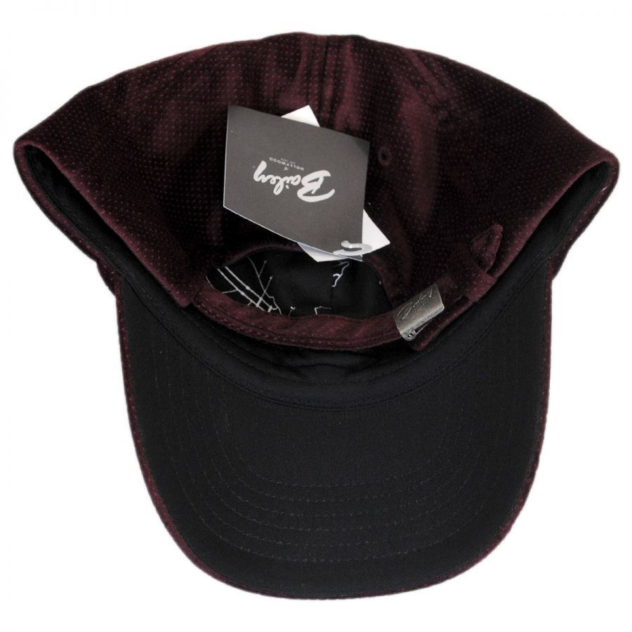 Bailey Leff Velvet Micro-Dot Strapback Baseball Cap Dad Hat Blank ... 0d288b103f7