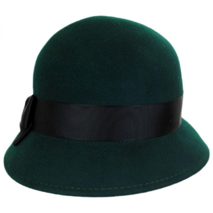 6a482ce61 Emma Wool Felt Cloche Hat
