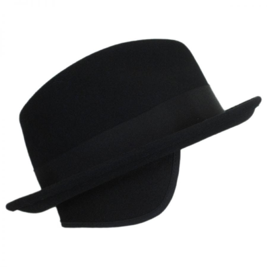 3cfc1c39a6d80 Bailey Craven Earflap Wool LiteFelt Trilby Fedora Hat Stingy Brim ...