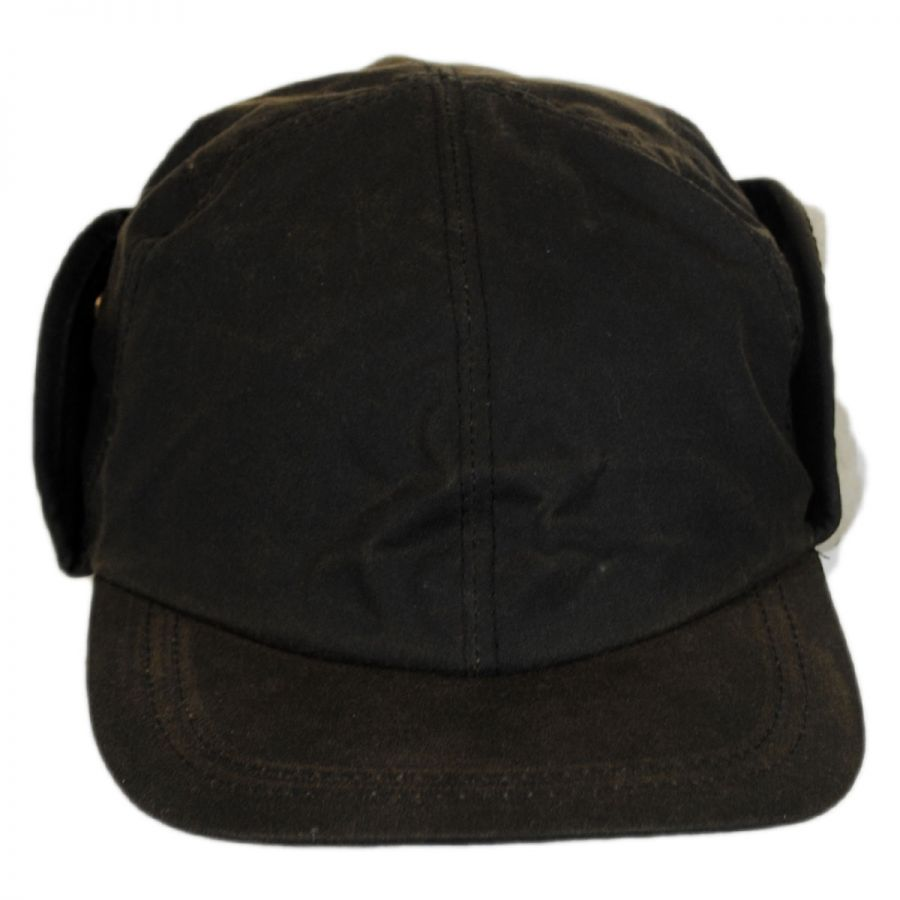 Woolrich Waxed Cotton Earflap Cap Rain Hats f880ae0c88f