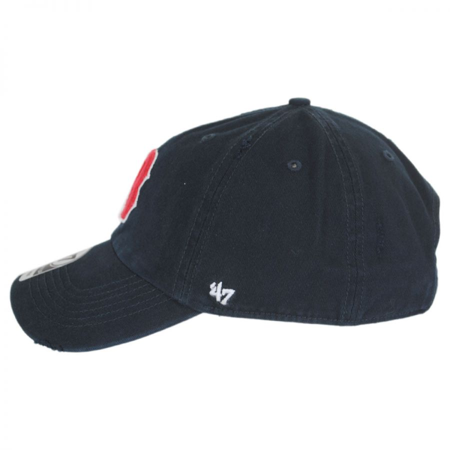 47 Brand Boston Red Sox MLB Ridge Clean Up Strapback Baseball Cap ... 48e4fa8c7539