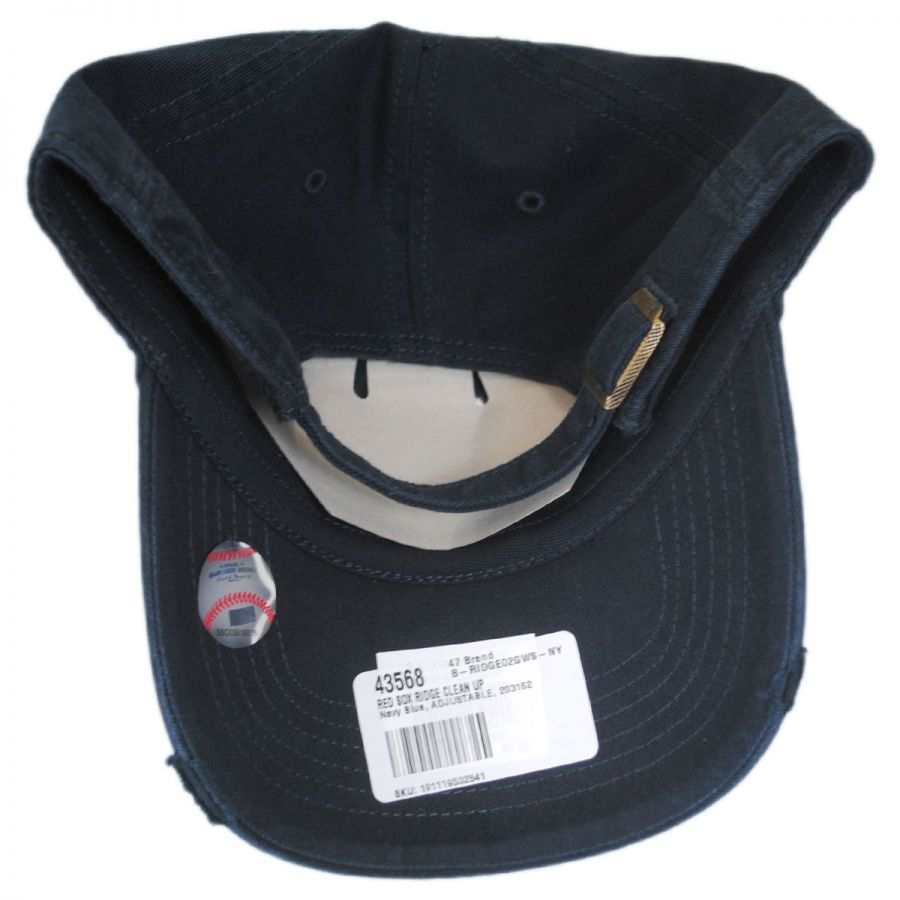 Boston Red Sox MLB Ridge Clean Up Strapback Baseball Cap Dad Hat in · 47  Brand 863dd3dbcb84