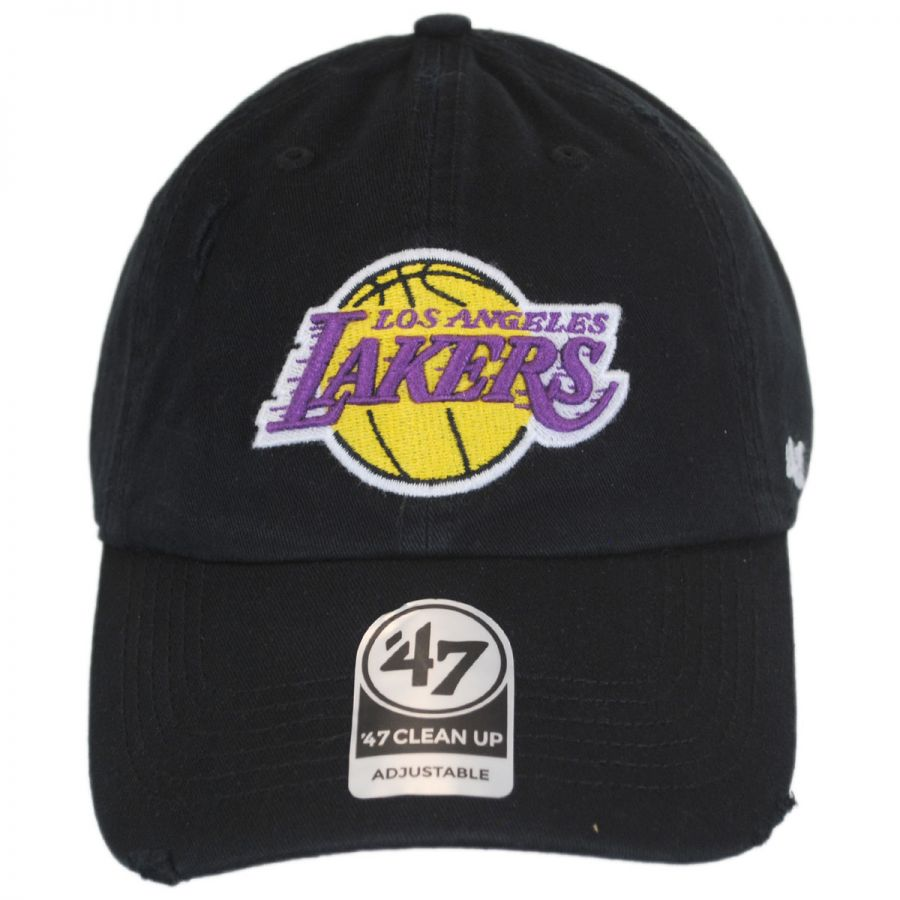 Los Angeles Lakers NBA Ridge Clean Up Strapback Baseball Cap Dad Hat in f955352844f