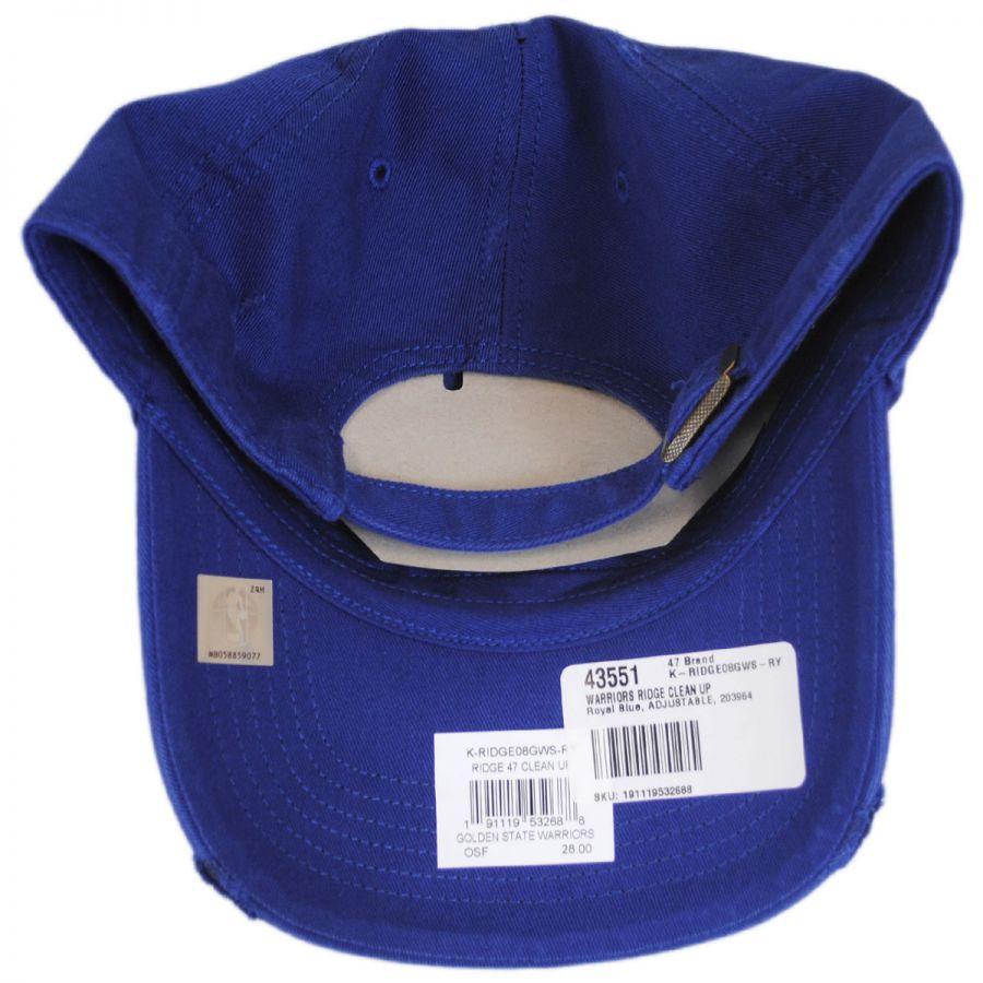09b4df3f8fd13 Golden State Warriors NBA Ridge Clean Up Strapback Baseball Cap Dad Hat in  · 47 Brand