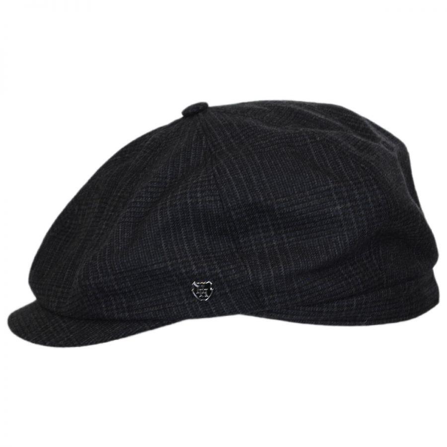 73a61f01fba Hills Hats of New Zealand Windsor Check English Tweed Wool Newsboy ...