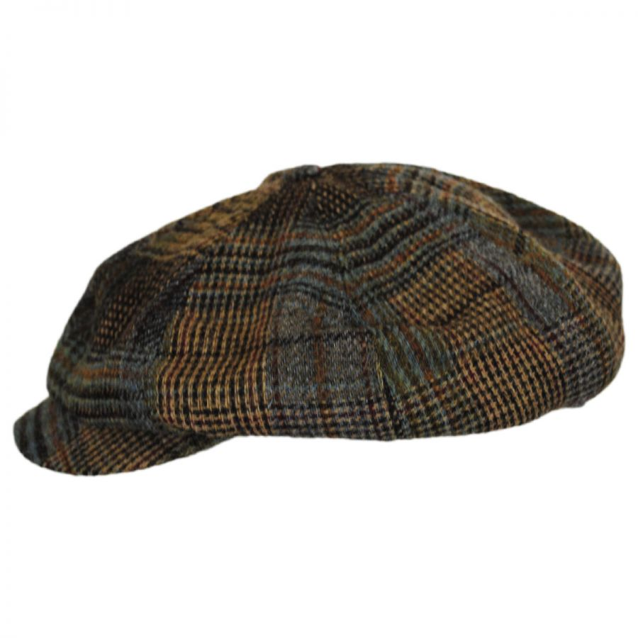 Hills Hats of New Zealand Patchwork English Tweed Wool Big Baker Boy ... 4dfa3b56296