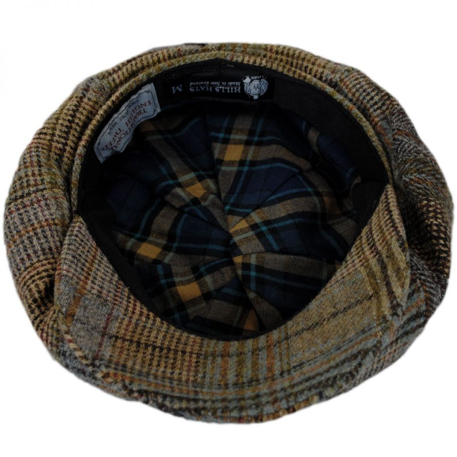 23d43d883cd Hills Hats of New Zealand Patchwork English Tweed Wool Big Baker Boy ...