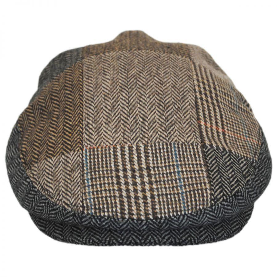 Jaxon Hats Herringbone Patchwork Wool Blend Ivy Cap Ivy Caps 6b126a6bea