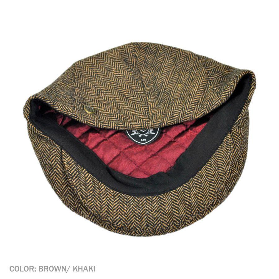 Brixton Hats Hooligan Herringbone Wool Blend Ivy Cap Ivy Caps d78158af46b9