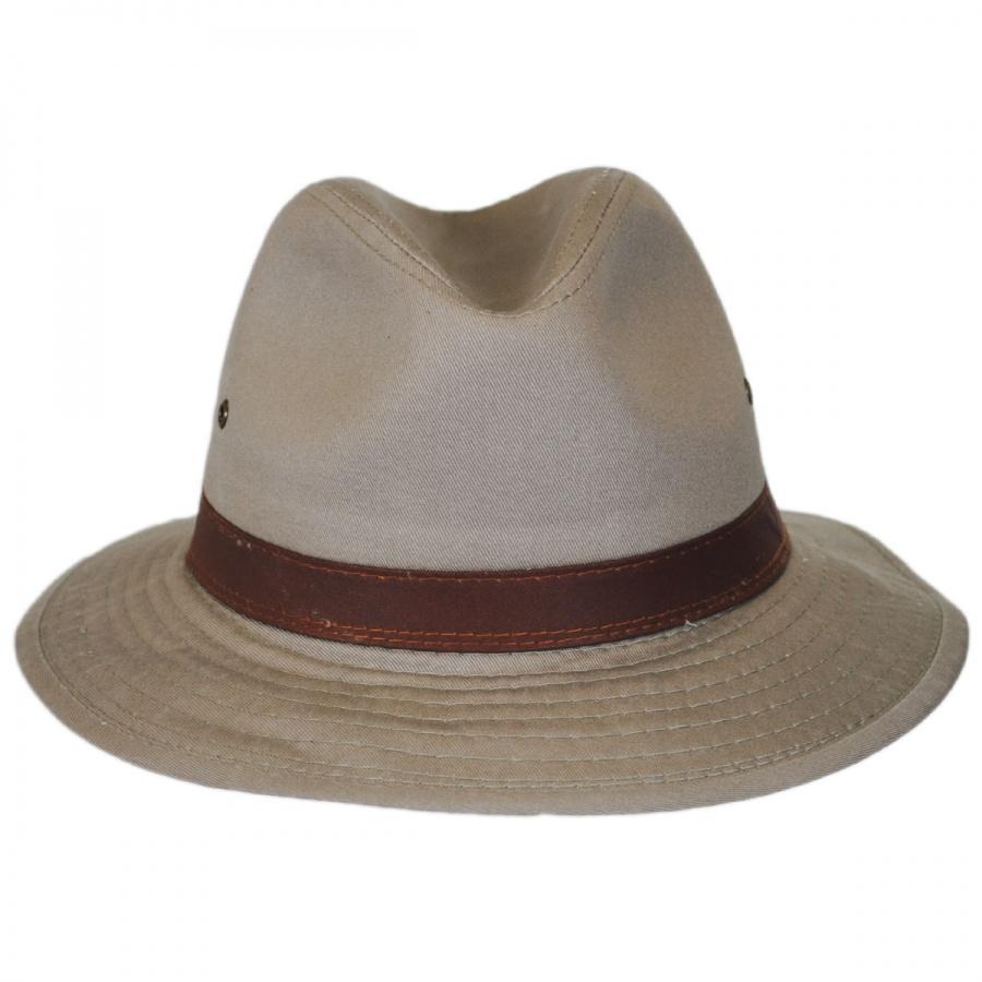 153c1fa3 Dorfman Pacific Company Packable Cotton Twill Safari Fedora Hat All ...