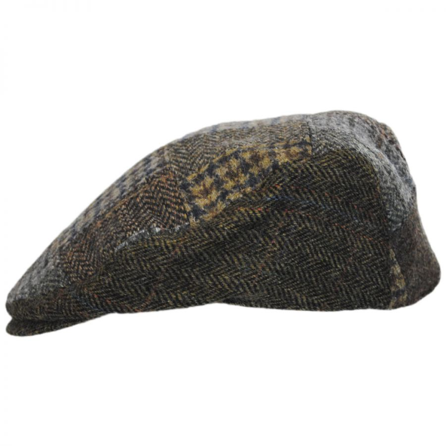3fc51c17020 Hills Hats of New Zealand Cheesecutter Patchwork English Wool Tweed ...