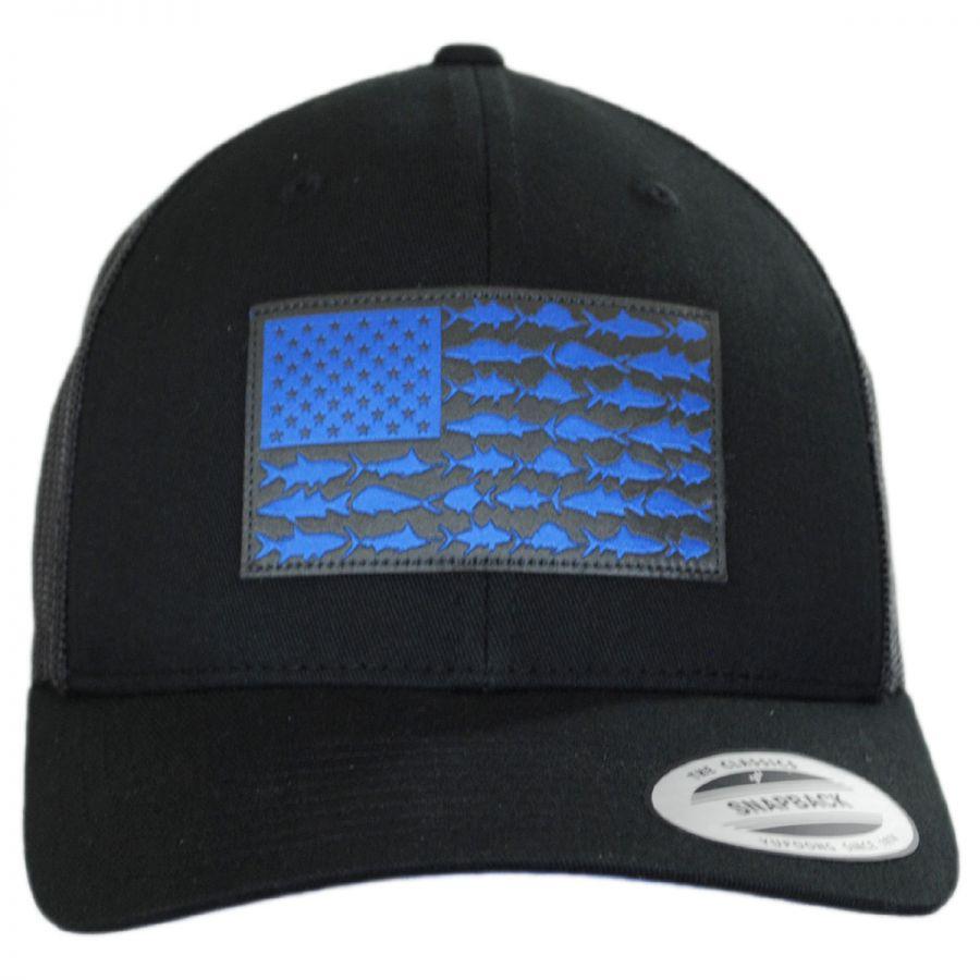 0f4f48ef559a8 Columbia Sportswear PFG Fish Flag Mesh Snapback Baseball Cap ...
