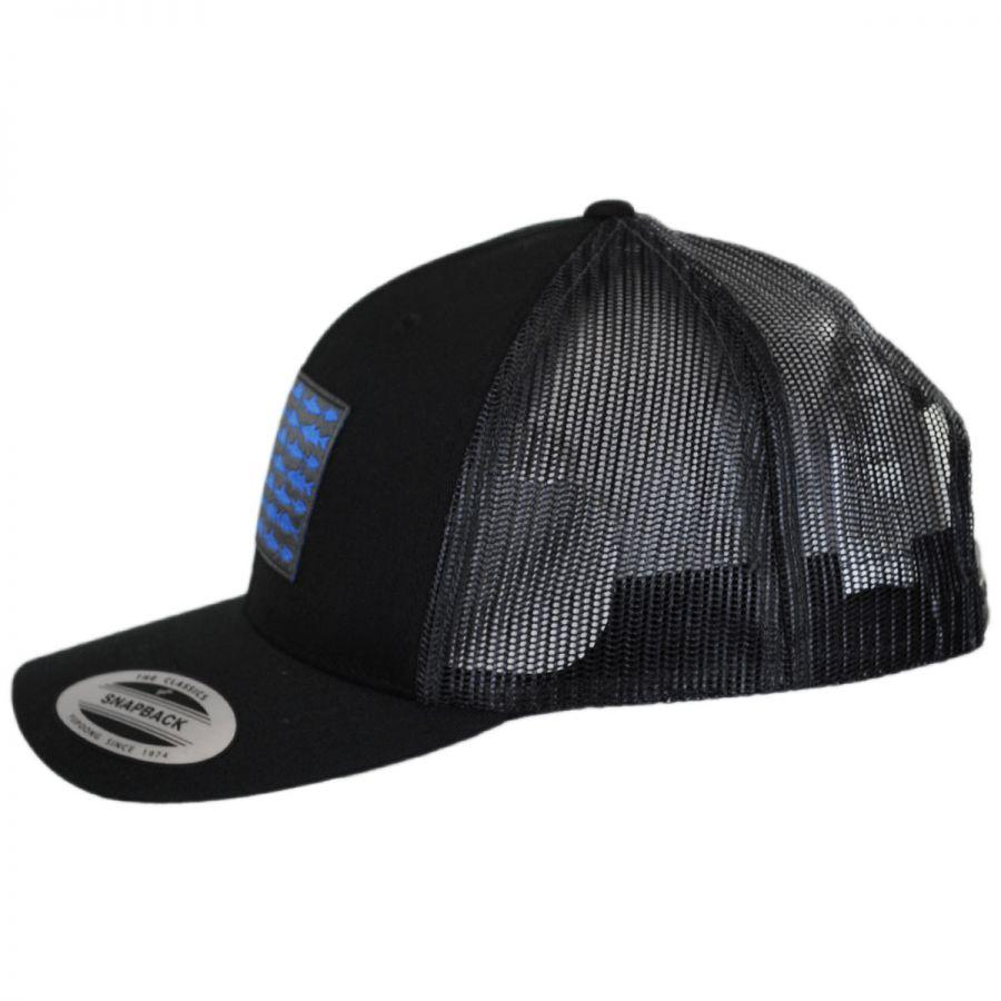 ae14edcb314 Columbia Sportswear PFG Fish Flag Mesh Snapback Baseball Cap ...