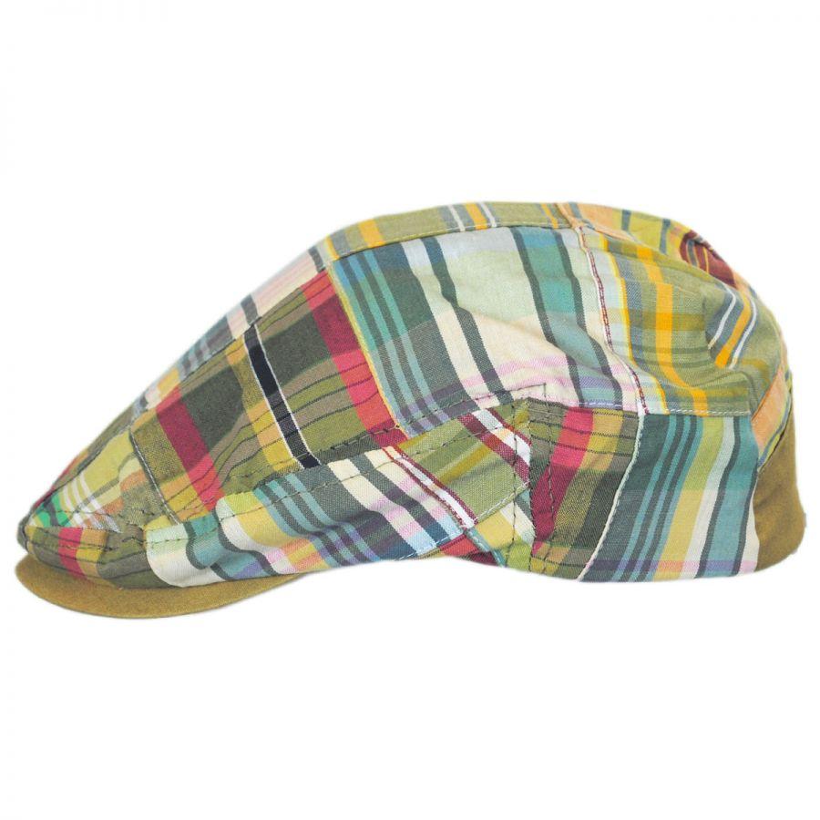 Stetson Madras Plaid Patchwork Cotton Ivy Cap - Khaki Ivy Caps 477337867b